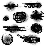 Set of black grunge brushes and design elements. Vector Royalty Free Stock Photo