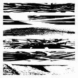 Set Black Grunge Design Element. Quality vector illustration for your design stock illustration