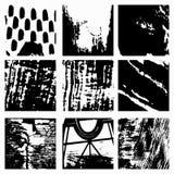 Set Black Grunge Design Element. (vector eps 10 vector illustration