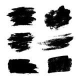 Set of black grunge vector brushes Royalty Free Stock Photography
