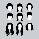 Hair Silhouettes Stock Image