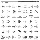 Set of black hud arrows elements. Futuristic user interface. Virtual graphic. Infographic elements. Digital dashboard. Set of black hud arrows elements Stock Photos