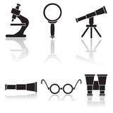 Set of black icons Royalty Free Stock Photo