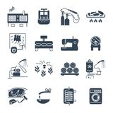 Set of black icons household appliances, equipment. Technology Royalty Free Stock Image