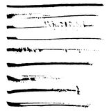 Set of black ink brushes. Stock Photography