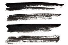 Set of black ink lines Royalty Free Stock Photography