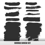 Set of Black ink vector stains. Set of Black ink vector stains Royalty Free Stock Photo