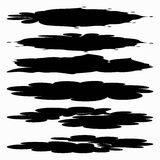 Set of Black ink vector stains Royalty Free Stock Photo