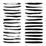 Set of Black ink vector stains. Stock Photo