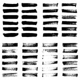 Set of Black ink vector stains. Royalty Free Stock Photo