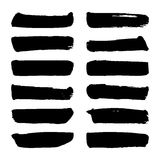 Set of Black ink vector Royalty Free Stock Image