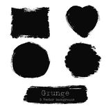Set of Black ink vector stains for your design Stock Images