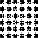 Set of black jigsaw puzzles. Vector illustration Royalty Free Stock Photos