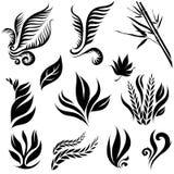 Set of black leaf Stock Photo