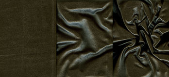 Set of black leather textures Stock Photography