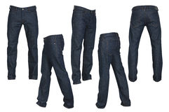 Set of black male jeans Stock Image
