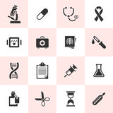Set of black  medical icons. Royalty Free Stock Image