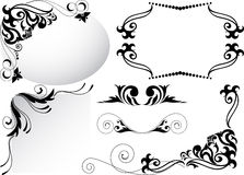 A set of black ornaments Stock Images