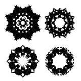 Set of Black Ornaments Stock Photos