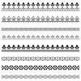 Set of black ornate borders. Stock Image