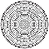 Set of black ornate borders. Pattern brushes are included royalty free illustration