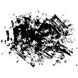 Set of black paint, dirty brush strokes Royalty Free Stock Image
