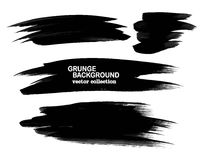 Set of black paint, ink brush strokes, brushes, lines. Dirty artistic design elements, boxes, frames. Set of black paint, ink brush strokes, brushes, lines Stock Images