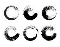 Set of black paint, ink brush strokes, brushes, lines. Dirty artistic design elements, boxes,logotype. Stock Photography