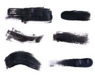 Set of black paint strokes Royalty Free Stock Photo