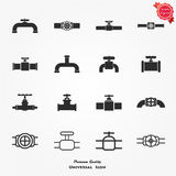 Set of black pipe details Royalty Free Stock Images