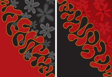 Set of black and red backgrounds Royalty Free Stock Image
