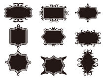 Set of black retro frame Stock Photos