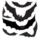 Set of black silhouettes bats, vector Royalty Free Stock Image