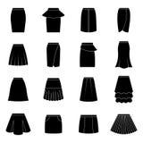 Set of black skirts,  illustration Stock Photo