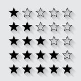 Set of black stars rating. Quality Royalty Free Stock Photography