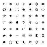 Set of Black Stars. Vector Illustration. Stock Images