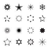 Set of Black Stars. Vector Illustration. Royalty Free Stock Image
