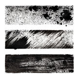 Set of black stenciled stripes Stock Photography