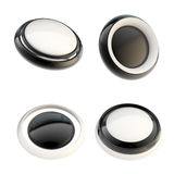 Set of black template buttons isolated Stock Photography