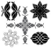 Set of black tracery for design - vector Royalty Free Stock Image