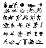 set of isolated icons about sports Stock Photo