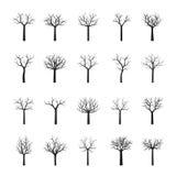 Set of black Trees. Vector Illustration. Collection of black Trees. Vector Illustration Stock Photography