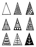 Set of black triangles. Stock Images