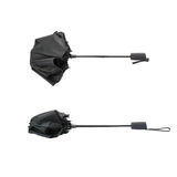 Set of Black umbrella isolated over the white background Stock Photos