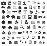Set of black universal web and mobile icons. Royalty Free Stock Images