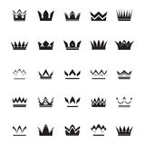 Set of black vector crowns Stock Photo