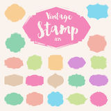 Set of black vintage Stamp ,Blank frame Stock Image