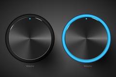 Set of black volume controls. Stock Photography
