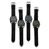 Set of black watches Royalty Free Stock Photography