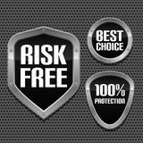 Set of black web badges Royalty Free Stock Image